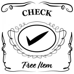 チェックマーク(白)jackdaniels_整理整頓収納ラベル