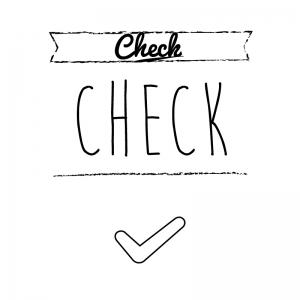 チェックマーク(白)simple-vintage_整理整頓収納ラベル