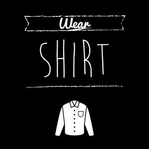 カッターシャツ(黒)simple-vintage_整理整頓収納ラベル