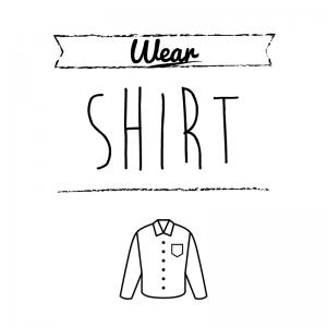 カッターシャツ(白)simple-vintage_整理整頓収納ラベル
