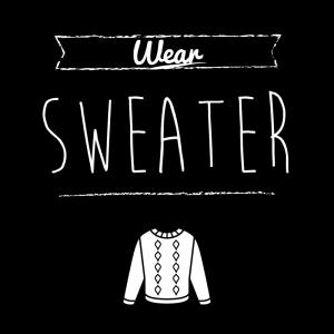 セーター(黒)simple-vintage_整理整頓収納ラベル