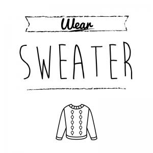 セーター(白)simple-vintage_整理整頓収納ラベル