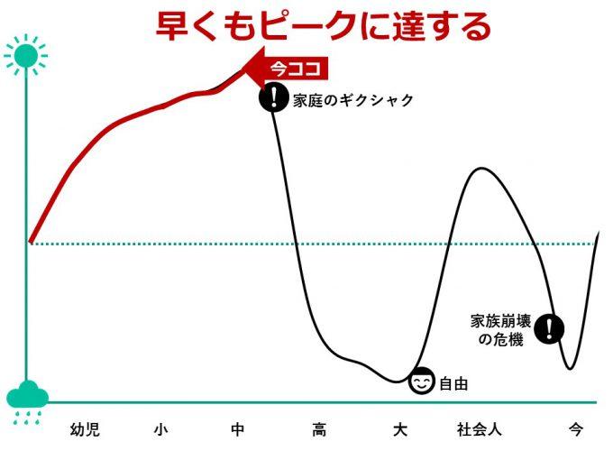 ひなさく人生グラフ_中学生
