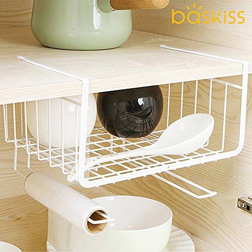Baskiss_キッチン吊り戸棚下多機能ラックタワー_食器_整理整頓